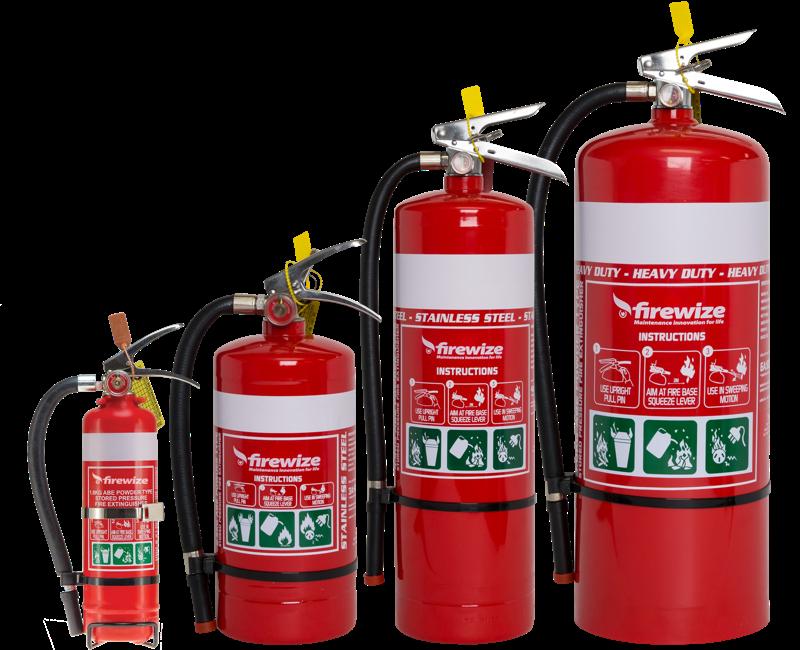 Firewize Dry Chemical Powder Fire Extinguisher Range
